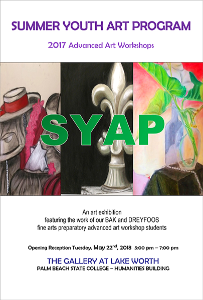 Summer Art Program show invite