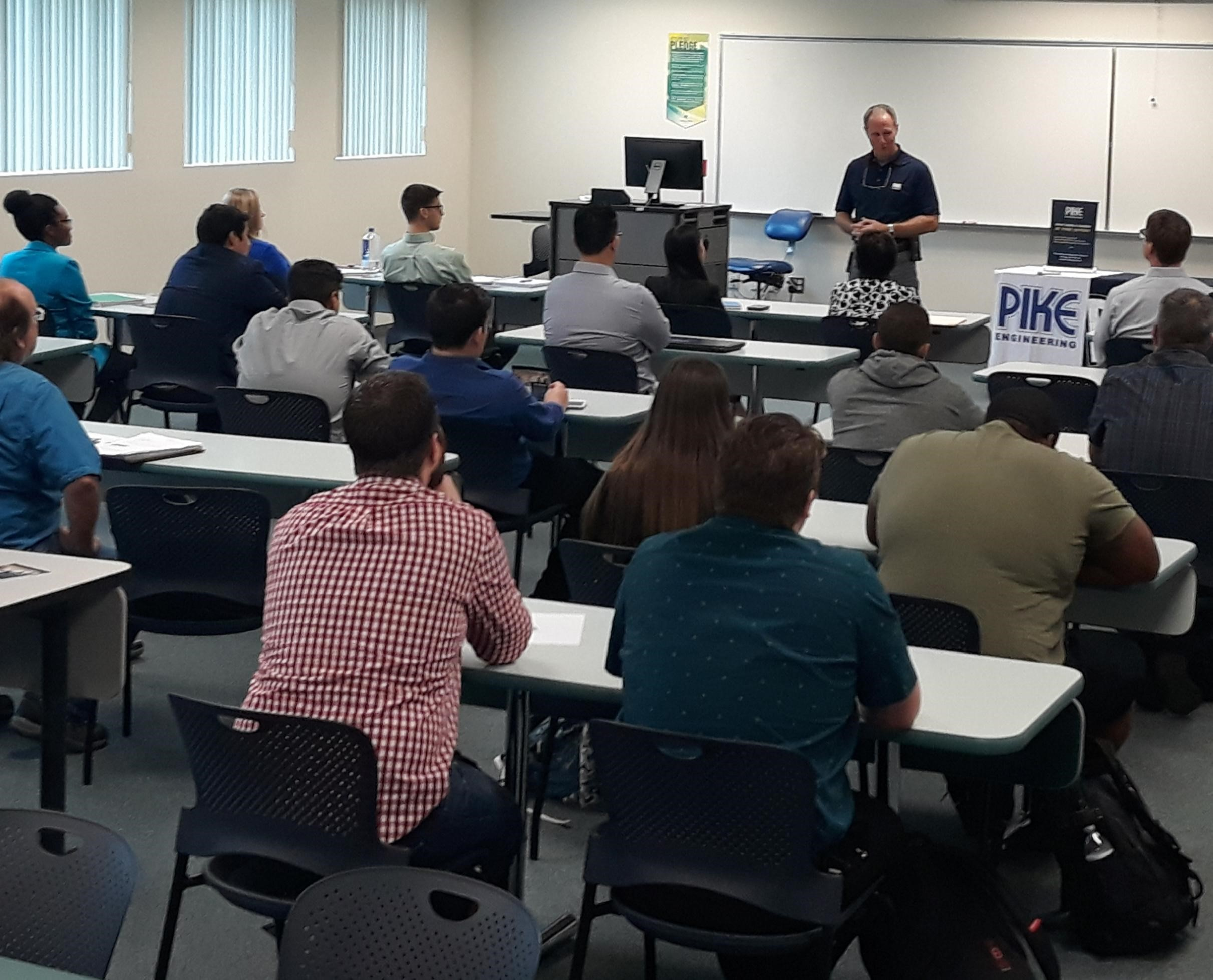 Pike Corporation is hiring and came to present and recruit PBSC students