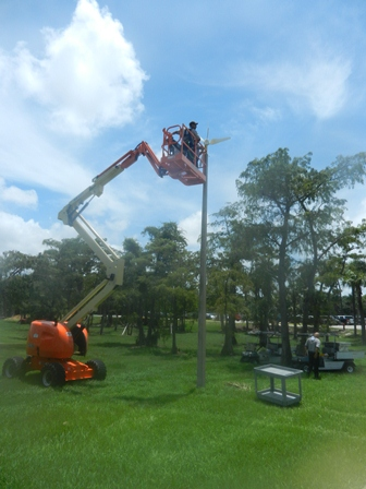 wind tower installation