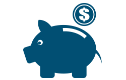 Penny bank icon