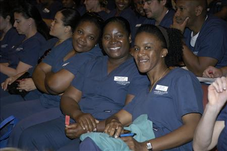 Nursing Students sitting at an event