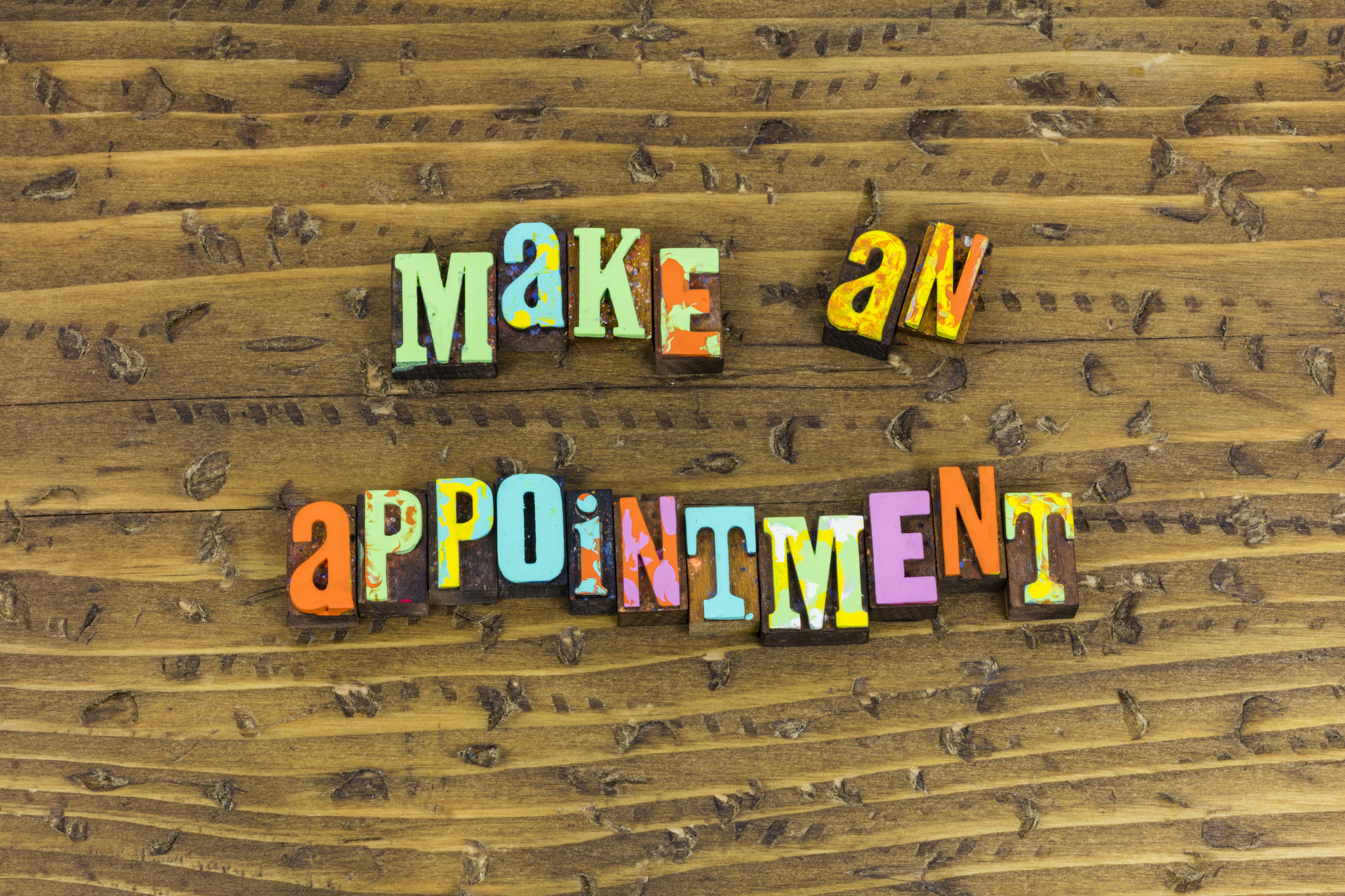 images that says Make an Appointment