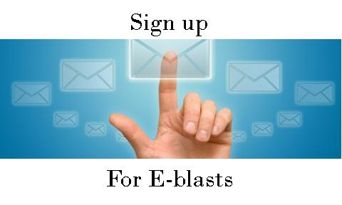 Sign up for E-blasts