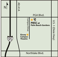 Find Eissey Theatre at the corner of PGA Boulevard and Campus Drive