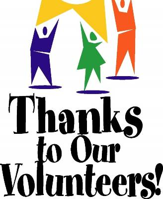 Thanks volunteers