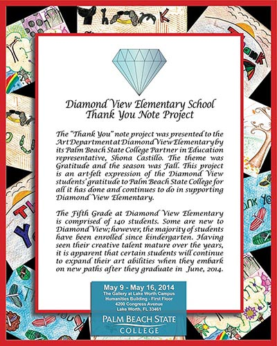 Diamond View Elementary Thank You Project