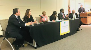 Group panel speakers at the Lake Worth Immigration Reform & Civil Liberties Forum