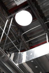 solar tubes provide daylightiing to the shop areas with no heat gain to the space.