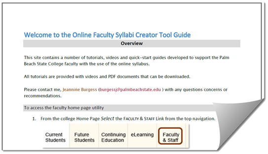 Syllabi Master Pages Guide