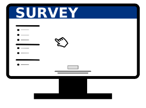 Icon of Computer screen with survey