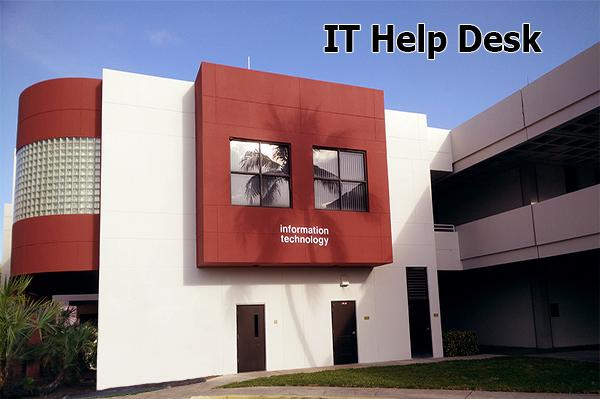 The IT Help Desk provides first point of contact for students, faculty and staff to report technical issues, submit requests for service and get answers to questions. In response, the IT Help Desk will attempt to resolve the reported issue first, then if necessary, escalate the issue to the next level of support or the appropriate department.